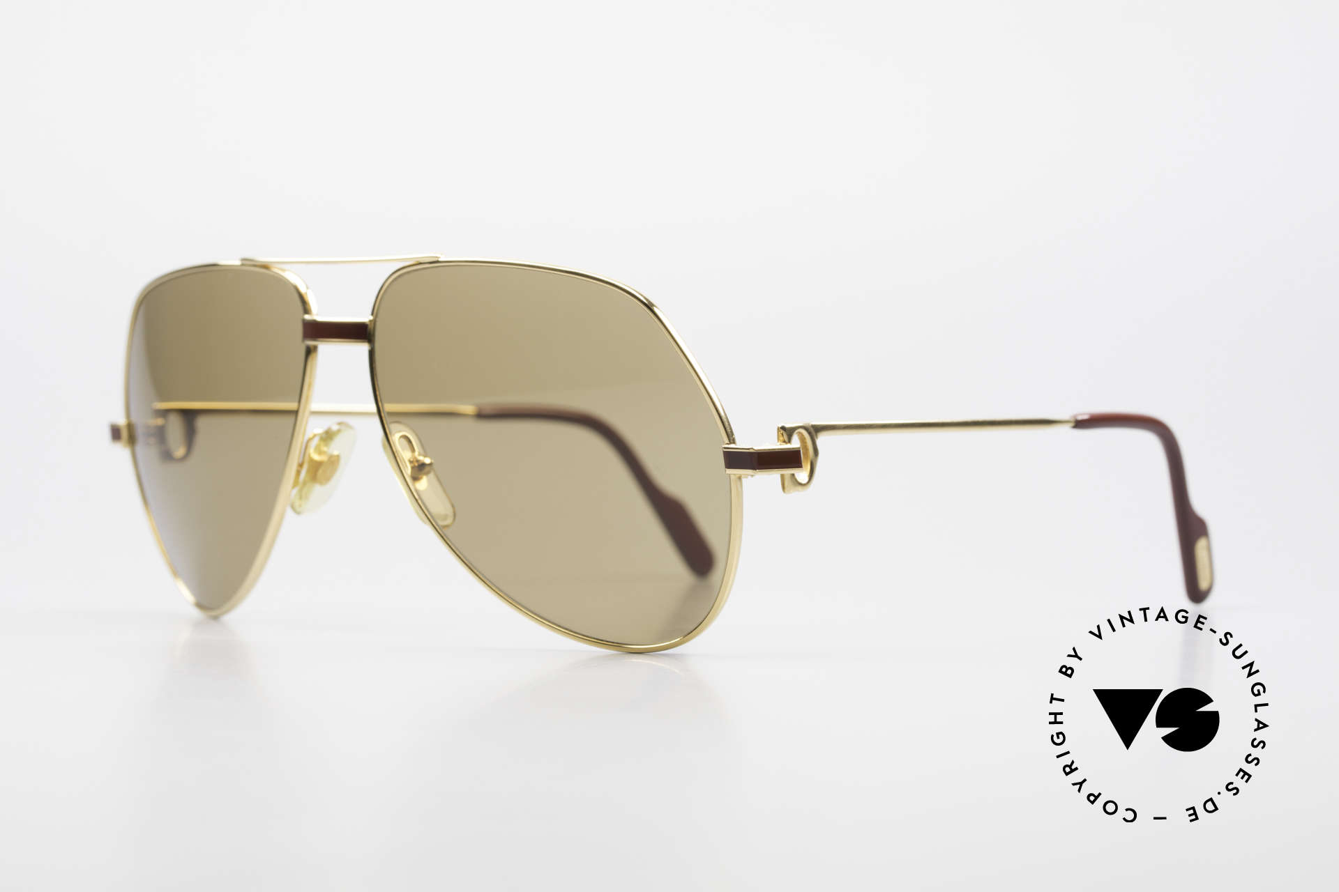 Cartier Vendome Laque - L Cartierglas Mit Hauchzeichen, 22kt vergoldet mit Laque-Dekor in Large Gr. 62-14, 130, Passend für Herren