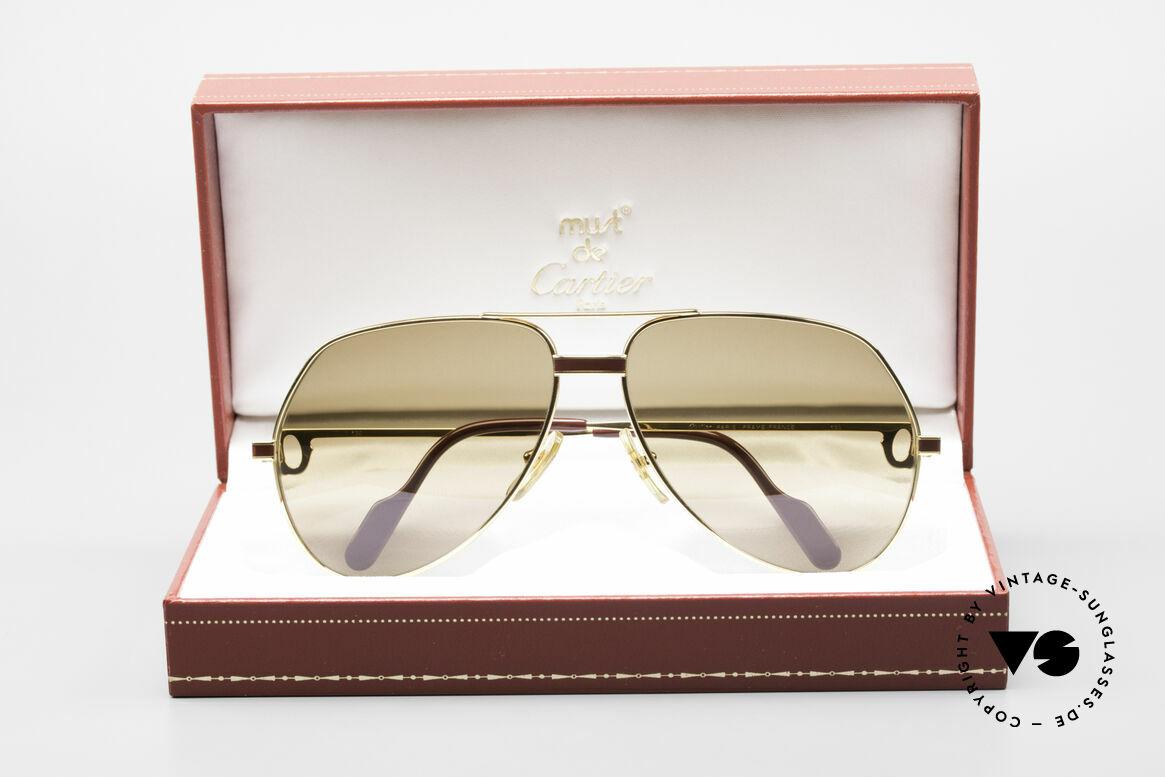 Cartier Vendome Laque - L Cartierglas Mit Hauchzeichen, KEINE Retrobrille, sondern ein altes Cartier ORIGINAL, Passend für Herren