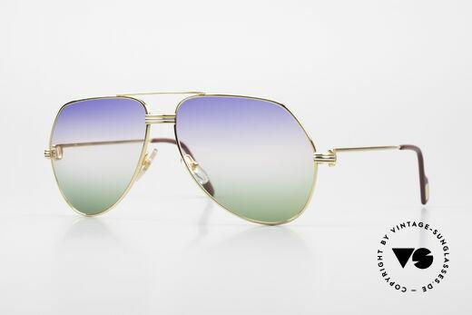 Cartier Vendome LC - L Rare Luxus Sonnenbrille 80er Details