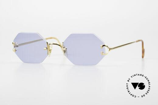 Cartier Rimless Octag Luxus Sonnenbrille Einzelstück Details