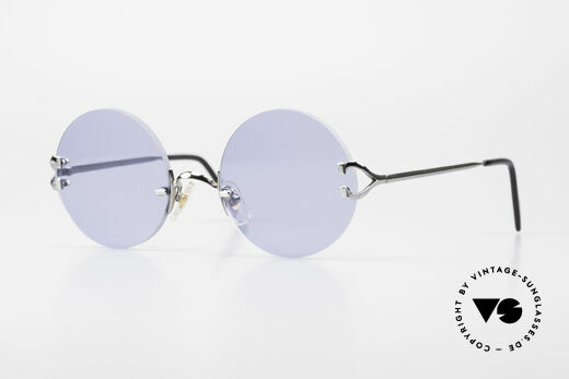 Cartier Madison Runde Luxusbrille Gunmetal Details