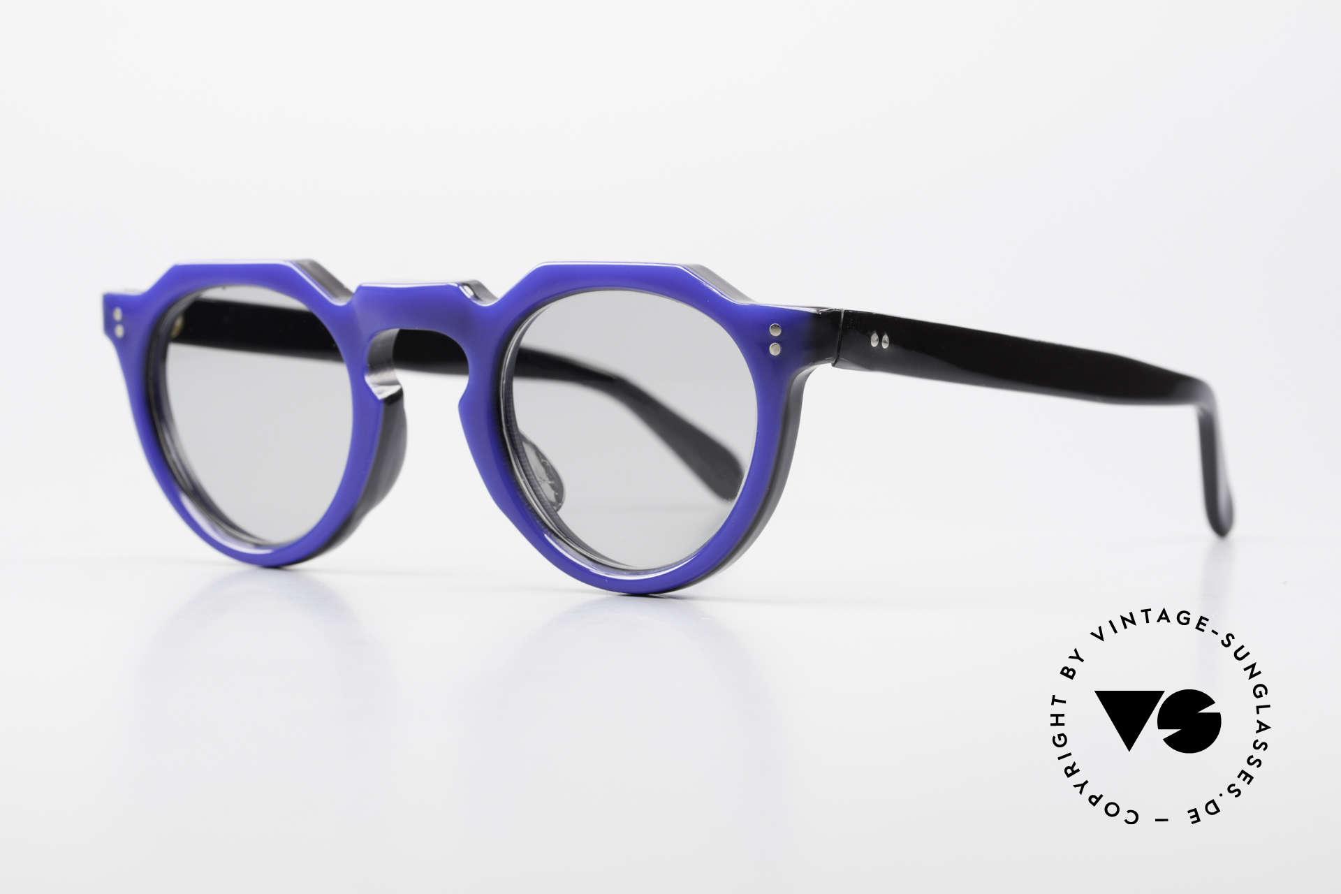 Lesca Panto 6mm 60er Frankreich Brille Panto, 6mm dickes Rahmenprofil = gemacht für die Ewigkeit, Passend für Herren