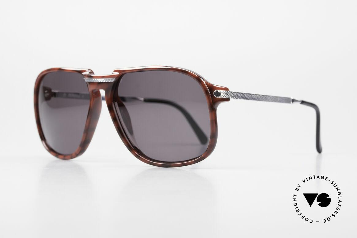 Dunhill 6005 Alte Herrensonnenbrille 1984, rhodinierte Metall-Komponenten mit Barley-Nieten, Passend für Herren