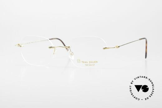 Henry Jullien Melrose 4000 Randlose Vintage Brille 90er Details