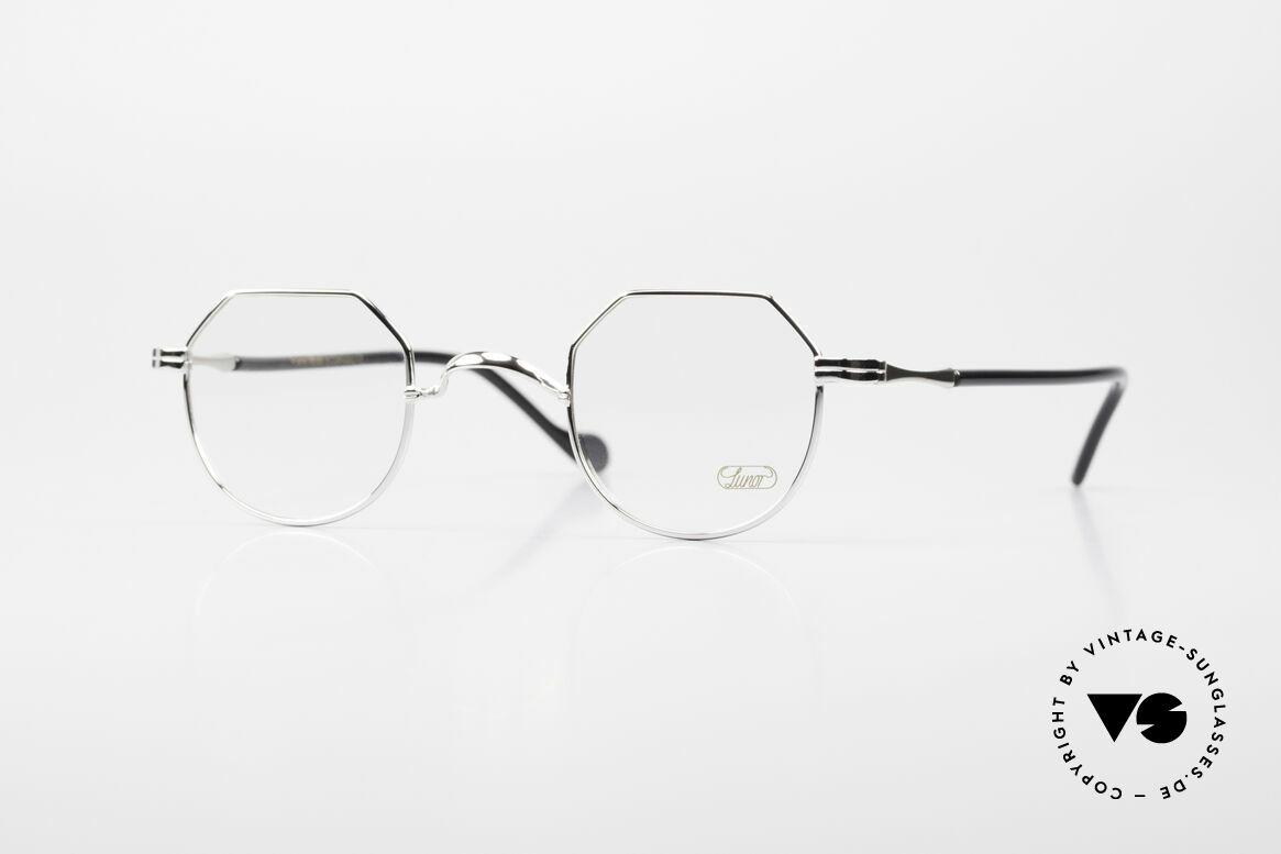 Lunor II A 18 Eckige Panto Brille Platin, Lunor Brille aus der Lunor II-A Serie (A = Acetat), Passend für Herren und Damen