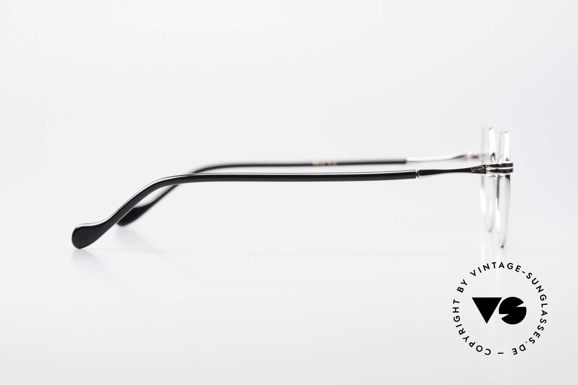Lunor II A 18 Eckige Panto Brille Platin, Größe: small, Passend für Herren und Damen