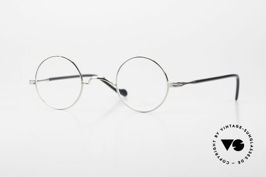 Lunor II A 12 Runde Vintage Brille Platin Details