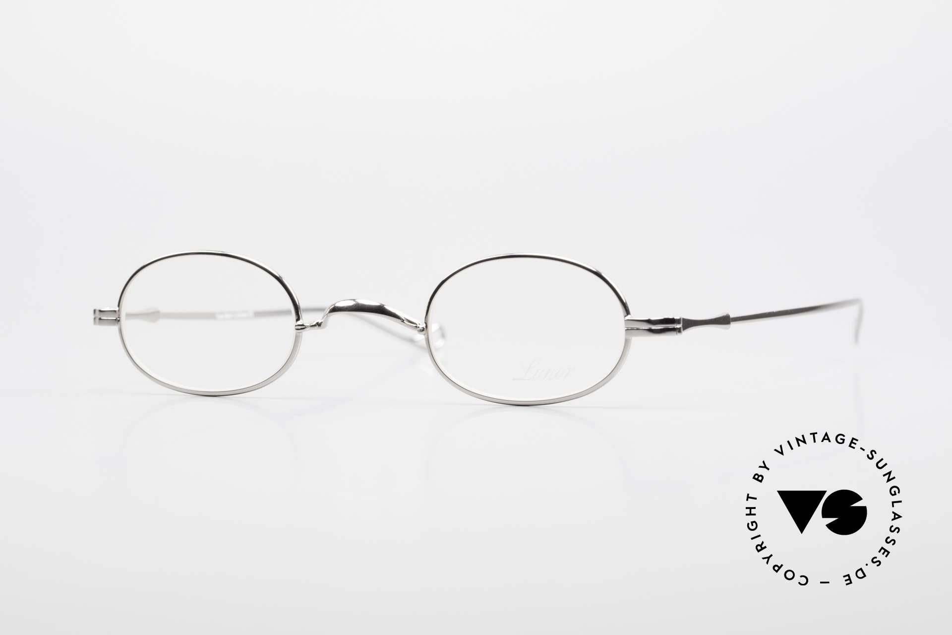 """Lunor II 08 Kleine Ovale Lunor Brille, LUNOR = französisch für """"Lunette d'Or"""" (Goldbrille), Passend für Herren und Damen"""