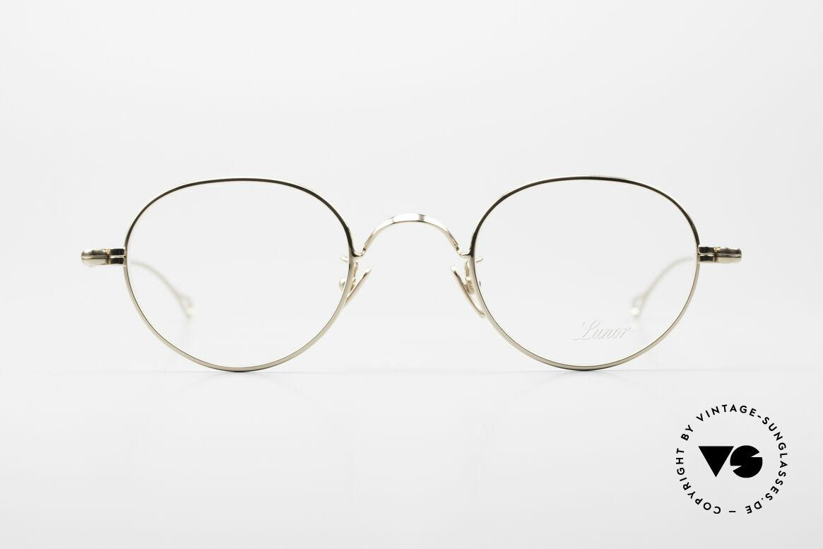 Lunor V 108 Pantobrille Titanium Vergoldet, ohne große Logos; stattdessen mit zeitloser Eleganz, Passend für Herren