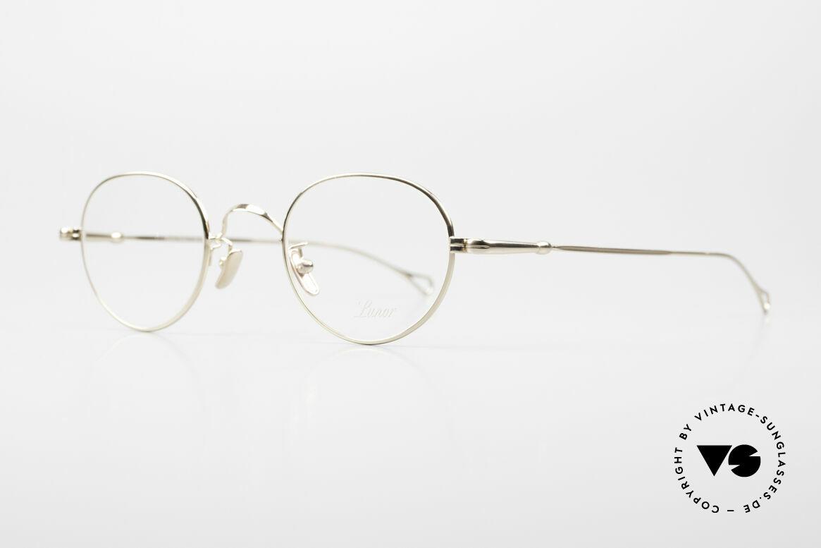 Lunor V 108 Pantobrille Titanium Vergoldet, Modell V 108: sehr elegante Pantobrille für Herren, Passend für Herren