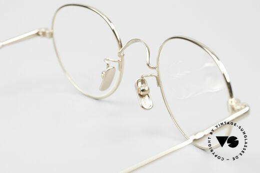 Lunor V 108 Pantobrille Titanium Vergoldet, DEMOgläser sollten durch optische ersetzt werden, Passend für Herren