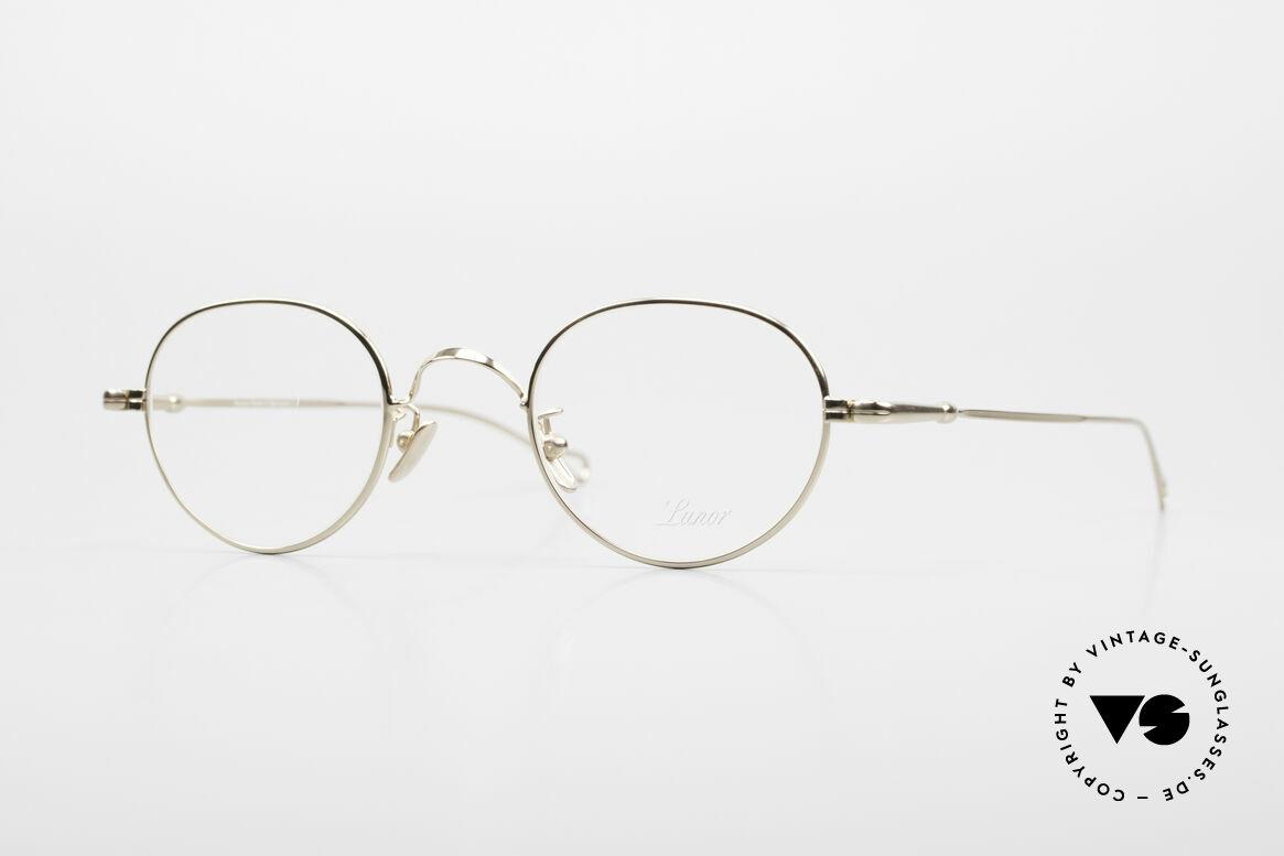 Lunor V 108 Pantobrille Titanium Vergoldet, LUNOR = ehrliches Handwerk mit Liebe zum Detail, Passend für Herren