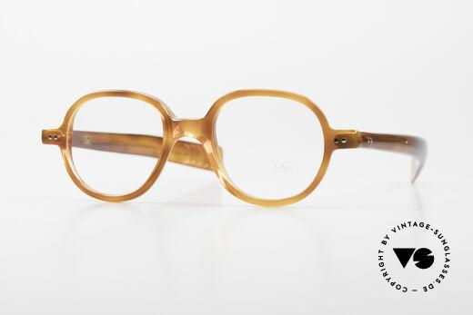 Lunor A50 Runde Acetatbrille Panto Stil Details