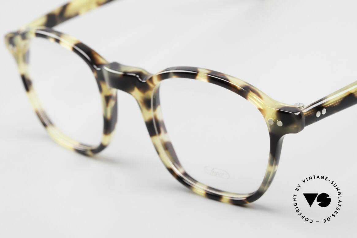 Lunor A51 Johnny Depp James Dean Brille, markante Fassung im stilvollen 'Tokyo Tortoise' Muster, Passend für Herren