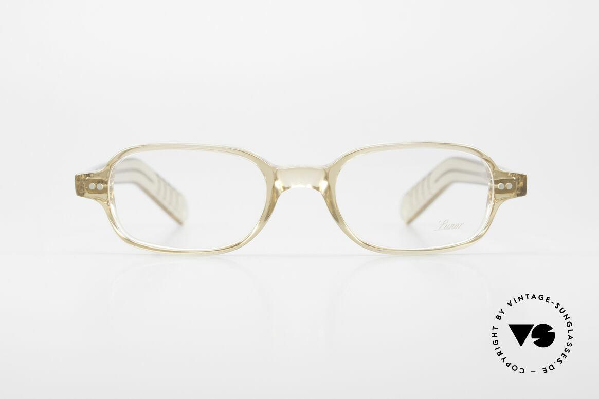 Lunor A56 Klassische Lunor Acetat Brille, Nietscharniere und zehntelmillimetergenau gefräst, Passend für Herren und Damen