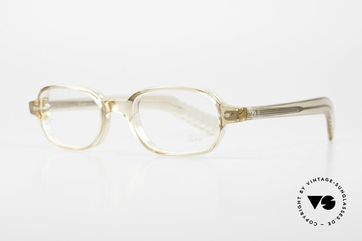 """Lunor A56 Klassische Lunor Acetat Brille, zeitlose Unisex-Fassung in """"transparent bzw. kristall"""", Passend für Herren und Damen"""