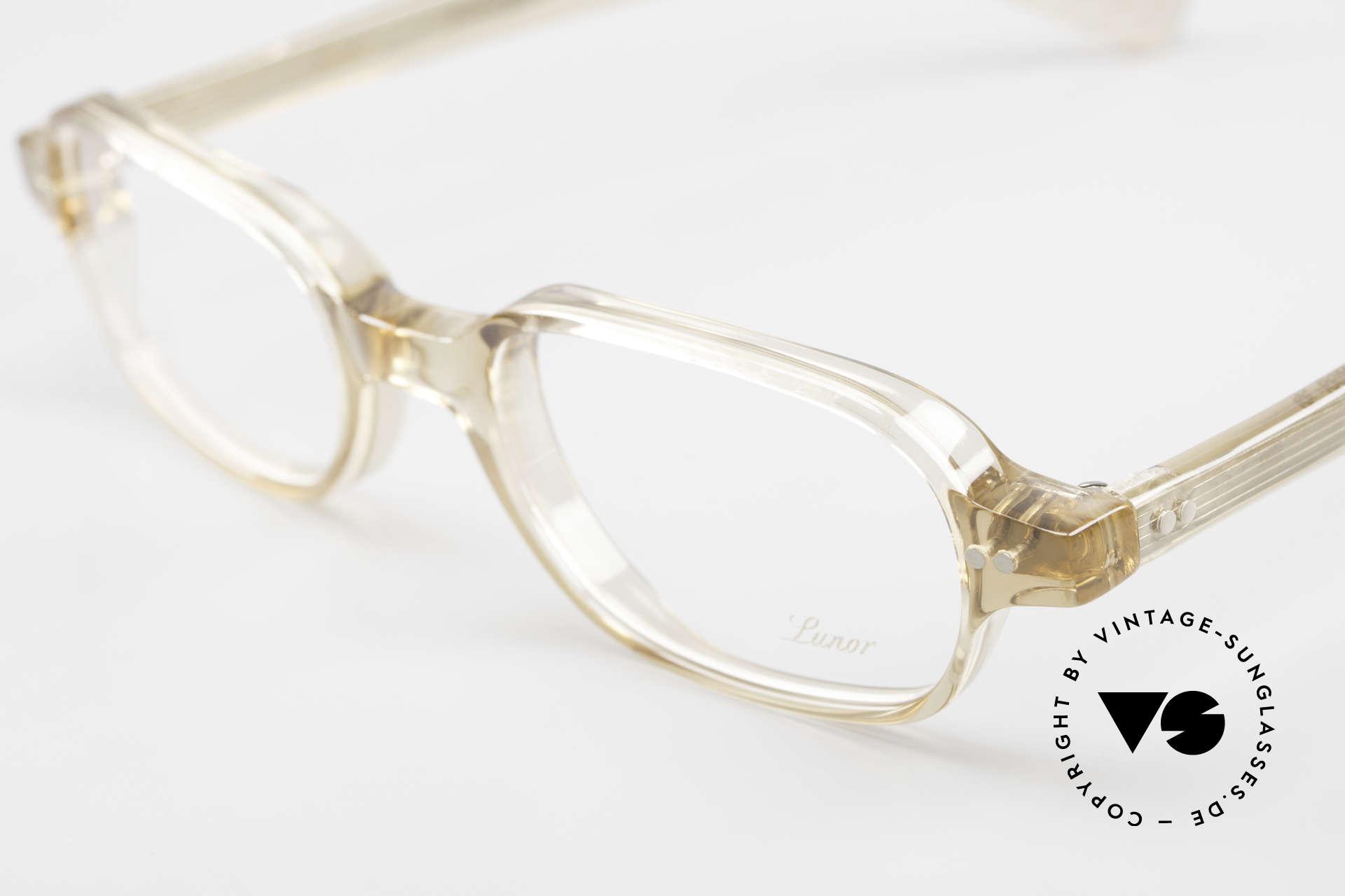 Lunor A56 Klassische Lunor Acetat Brille, handpoliert & 100% made in Germany; ein Klassiker!, Passend für Herren und Damen