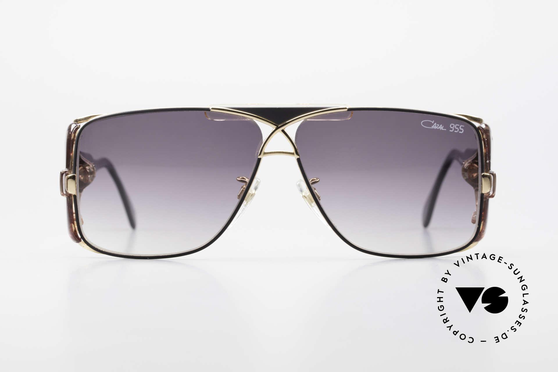 Cazal 955 80er Hip Hop Sonnenbrille, damals fester Bestandteil der amerik. HipHop-Szene, Passend für Herren