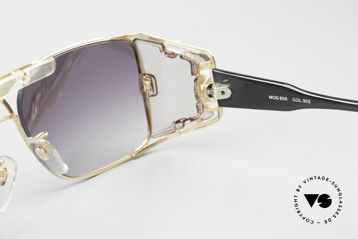 Cazal 955 80er Hip Hop Sonnenbrille, Größe: large, Passend für Herren