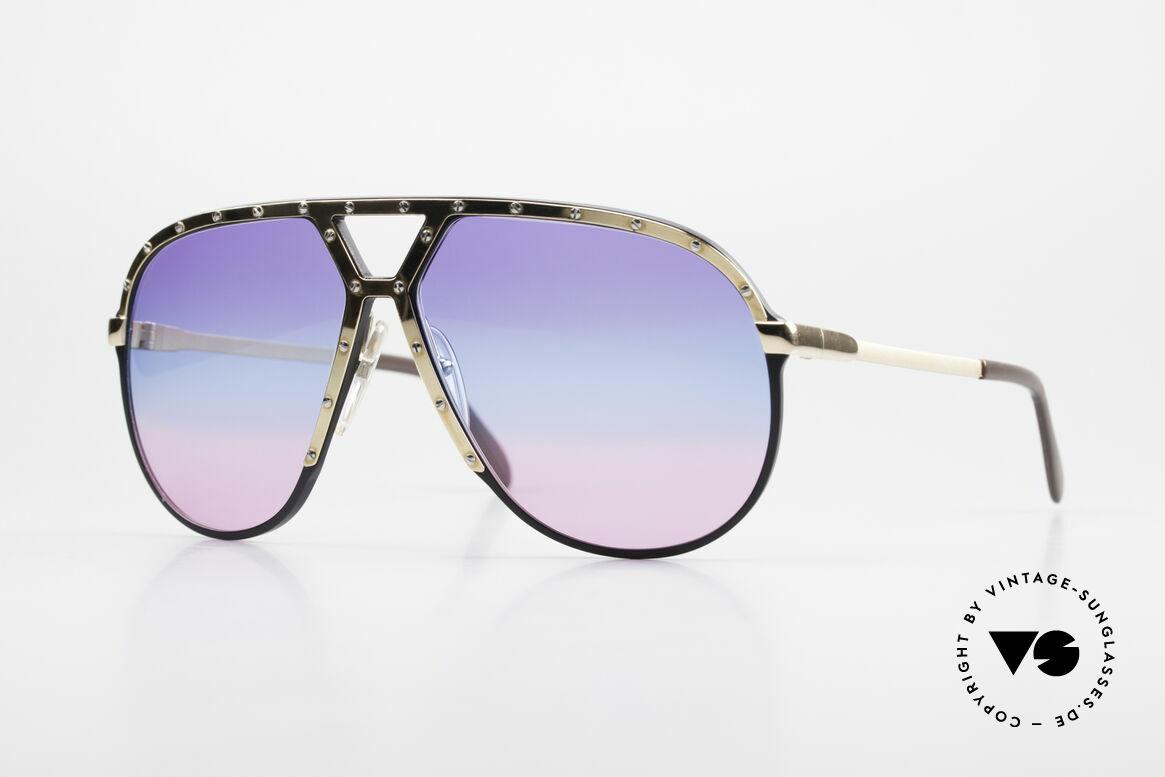 Alpina M1 80er Sonnenbrille Tricolor, alte 80er West Germany Sonnenbrille, Alpina M1, Passend für Herren