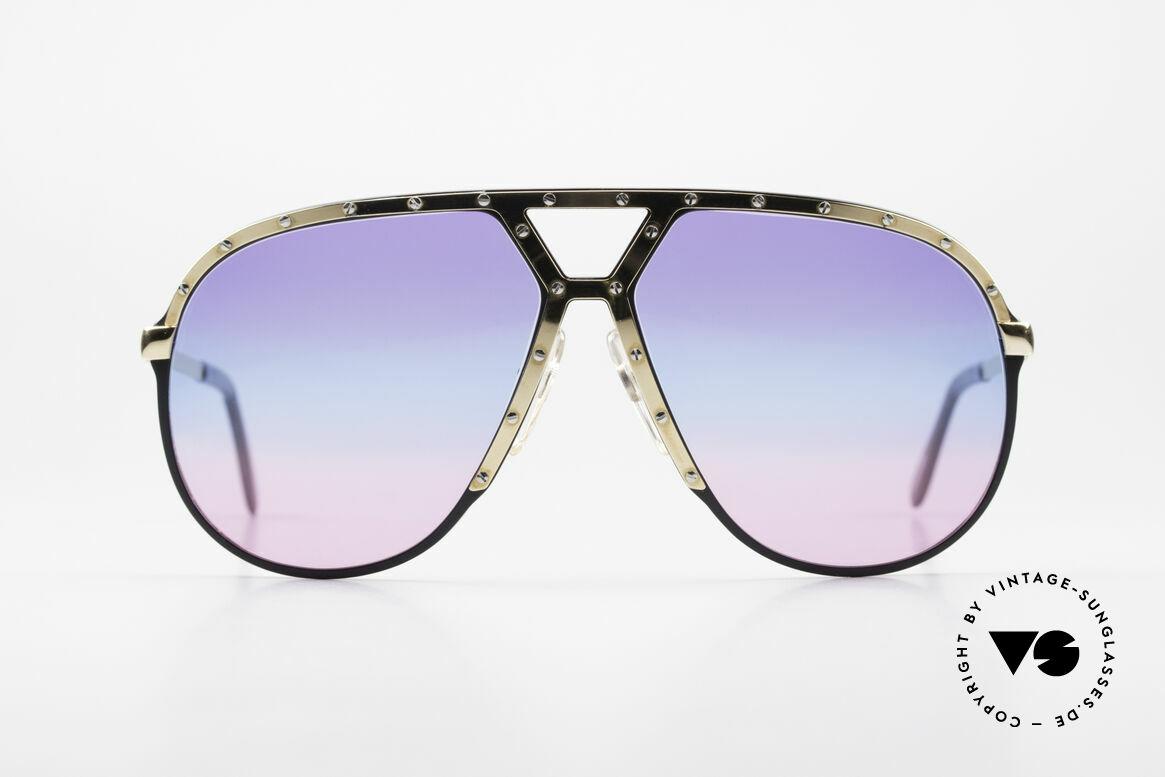 Alpina M1 80er Sonnenbrille Tricolor, Stevie Wonder machte diese Brille damals berühmt, Passend für Herren