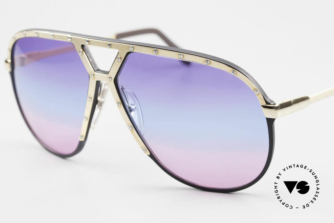 """Alpina M1 80er Sonnenbrille Tricolor, rare, einzigartige Gläser in 3fach Verlauf 'GALAXY"""", Passend für Herren"""