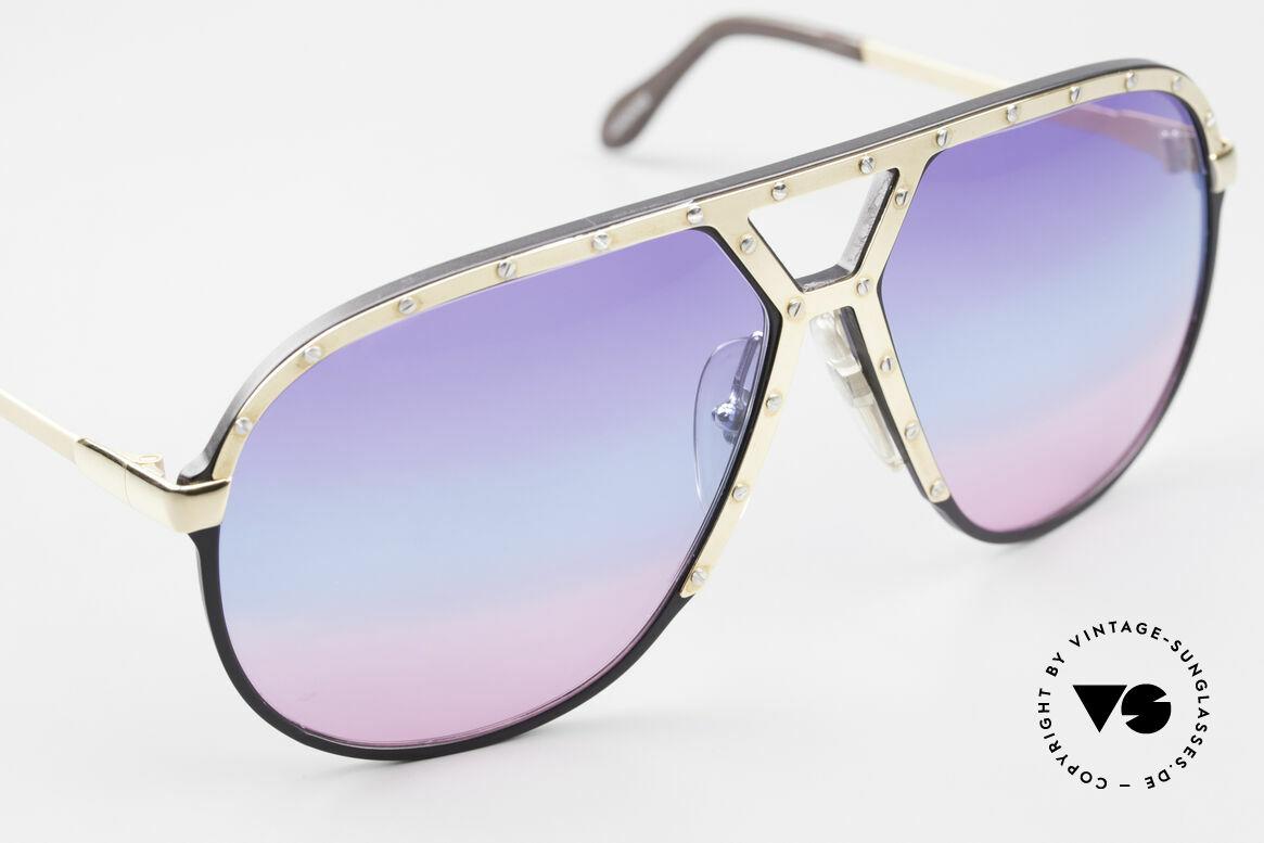 Alpina M1 80er Sonnenbrille Tricolor, ungetragenes Sammlerstück (inkl. PORSCHE Etui), Passend für Herren