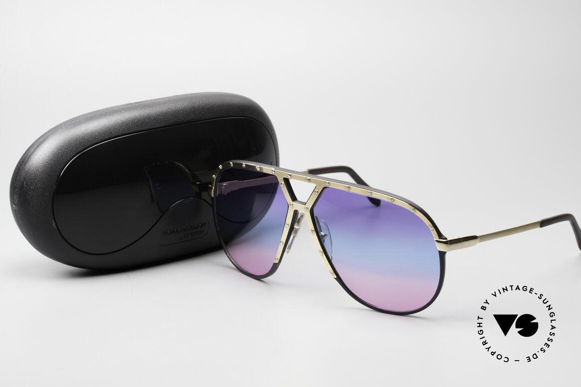 Alpina M1 80er Sonnenbrille Tricolor, Größe: large, Passend für Herren