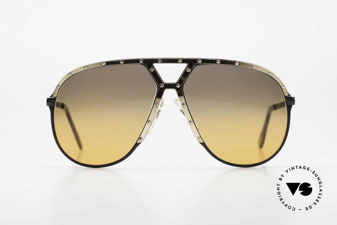 Alpina M1 80er XL Aviator Sonnenbrille, Stevie Wonder machte diese Brille weltberühmt, Passend für Herren