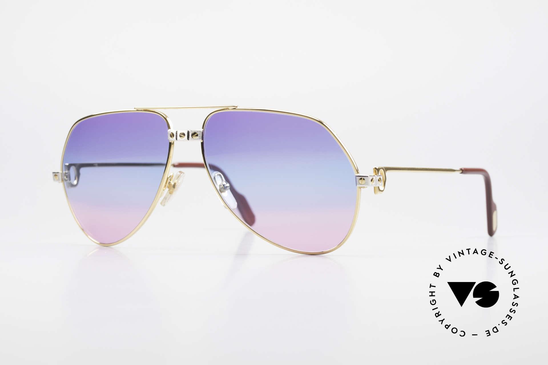 Cartier Vendome Santos - M Unikat Sammler Sonnenbrille, Vendome = das berühmteste Brillendesign von CARTIER, Passend für Herren und Damen