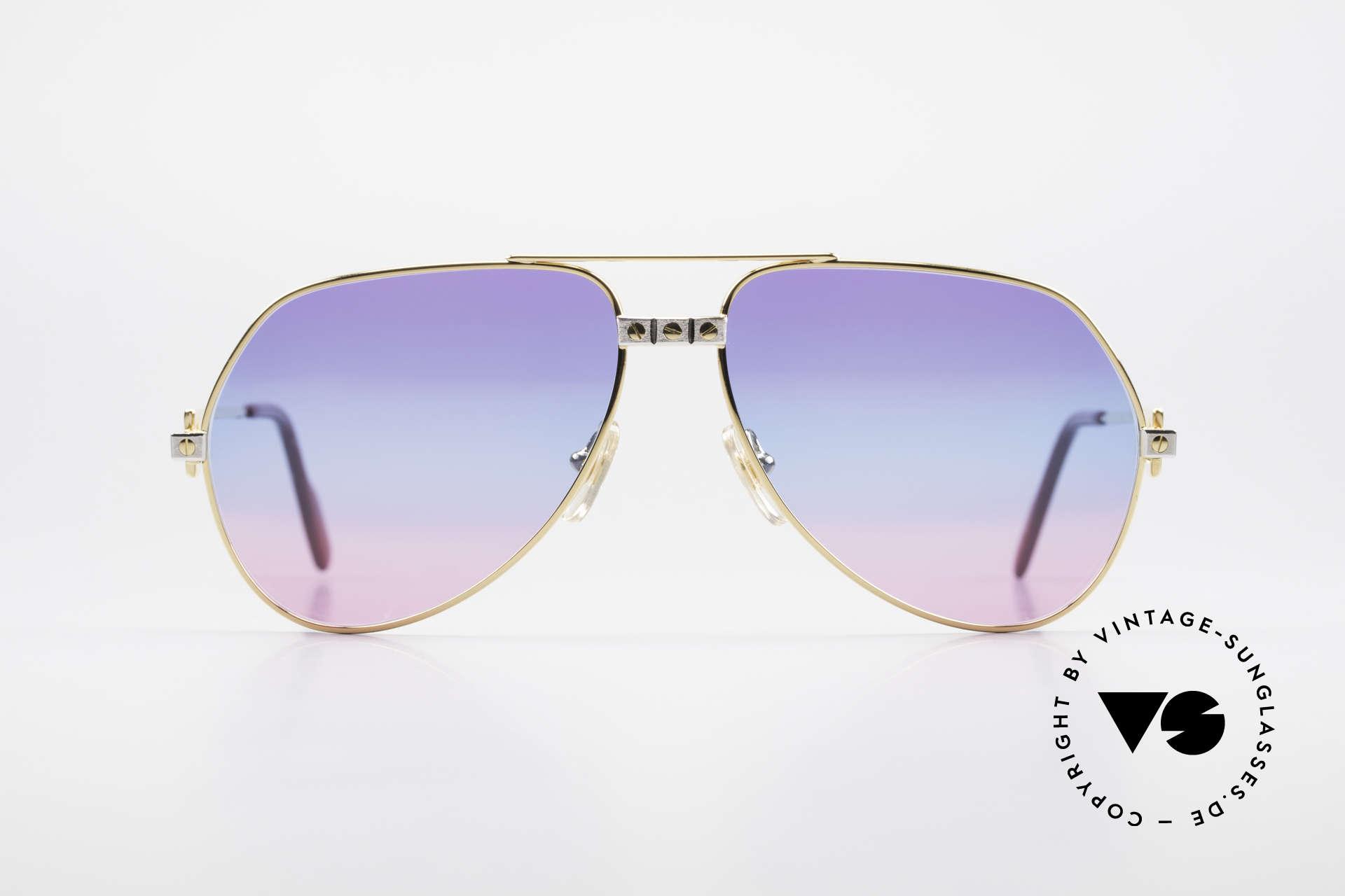 Cartier Vendome Santos - M Unikat Sammler Sonnenbrille, wurde 1983 veröffentlicht & dann bis 1997 produziert, Passend für Herren und Damen