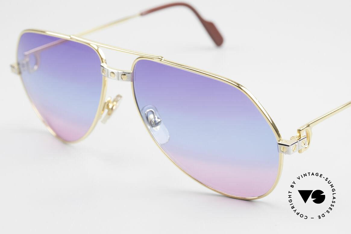 Cartier Vendome Santos - M Unikat Sammler Sonnenbrille, u.a. getragen von Christopher Walken (James Bond, 85), Passend für Herren und Damen