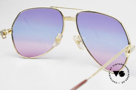 Cartier Vendome Santos - M Unikat Sammler Sonnenbrille, ungetragene Rarität, 22kt vergoldet + orig. Verpackung, Passend für Herren und Damen
