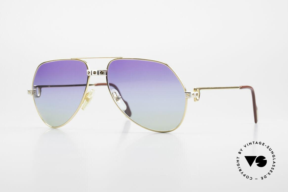 Cartier Vendome Santos - M James Bond Sonnenbrille 80er, Vendome = das berühmteste Brillendesign von CARTIER, Passend für Herren und Damen