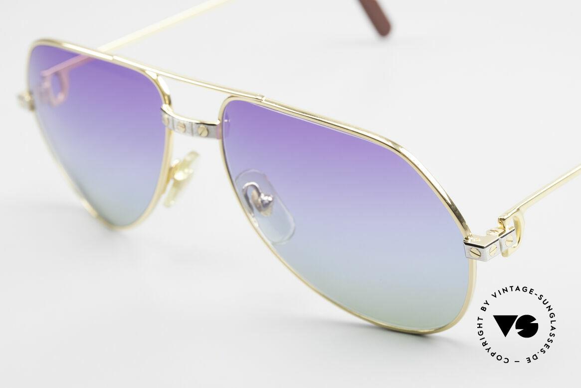 Cartier Vendome Santos - M James Bond Sonnenbrille 80er, u.a. getragen von Christopher Walken (James Bond, 85), Passend für Herren und Damen