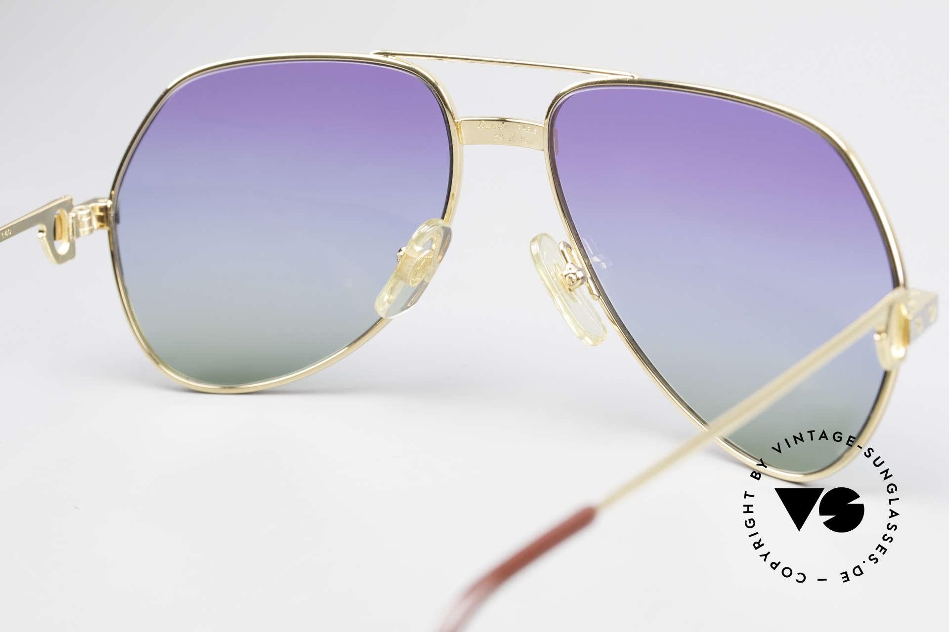 Cartier Vendome Santos - M James Bond Sonnenbrille 80er, 80er-Gläser mit dreifach Verlauf (typisch für die 80er), Passend für Herren und Damen