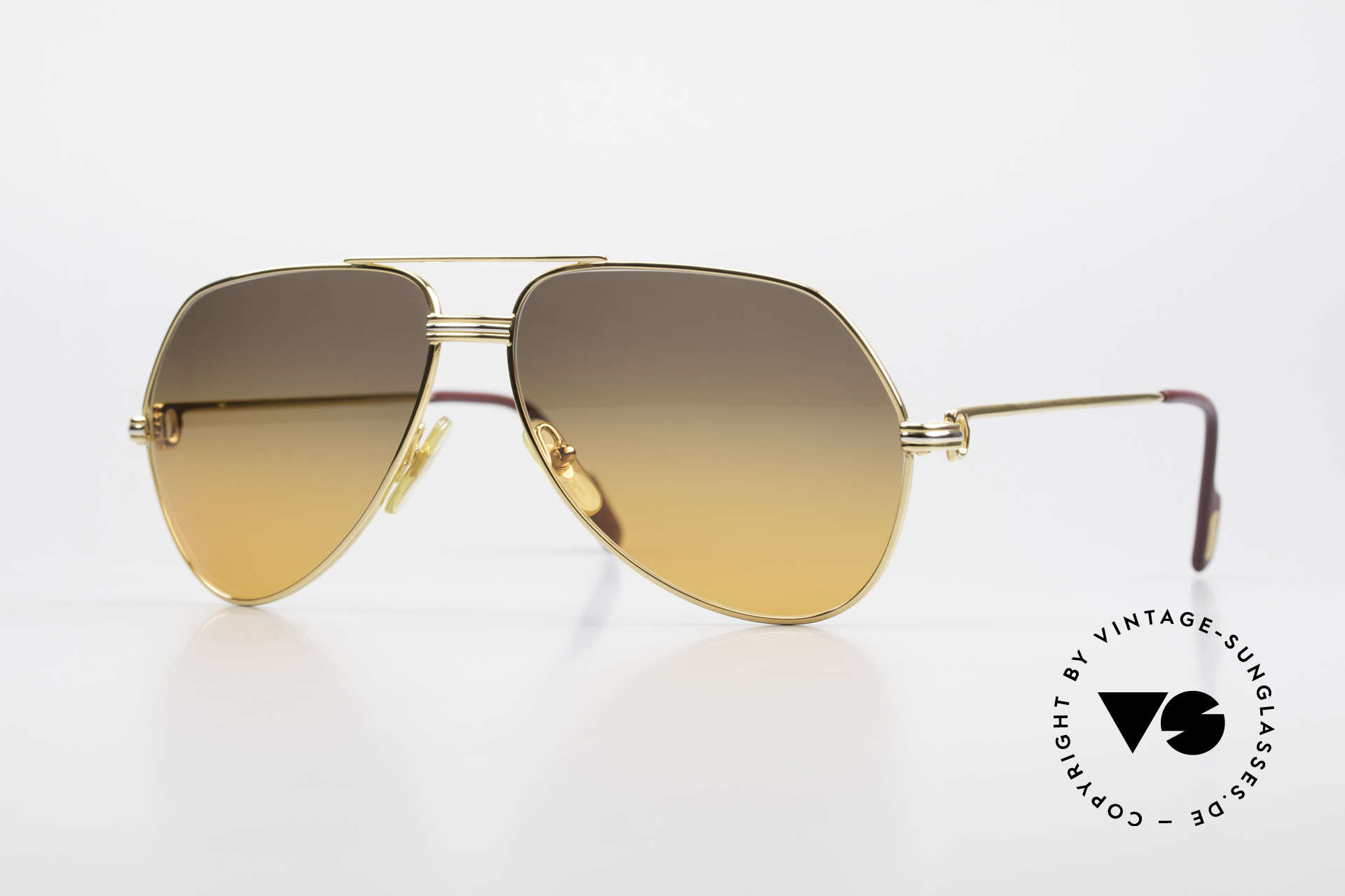 Cartier Vendome LC - M Film-Sonnenbrille Wall Street, Vendome = das berühmteste Brillendesign von CARTIER, Passend für Herren und Damen