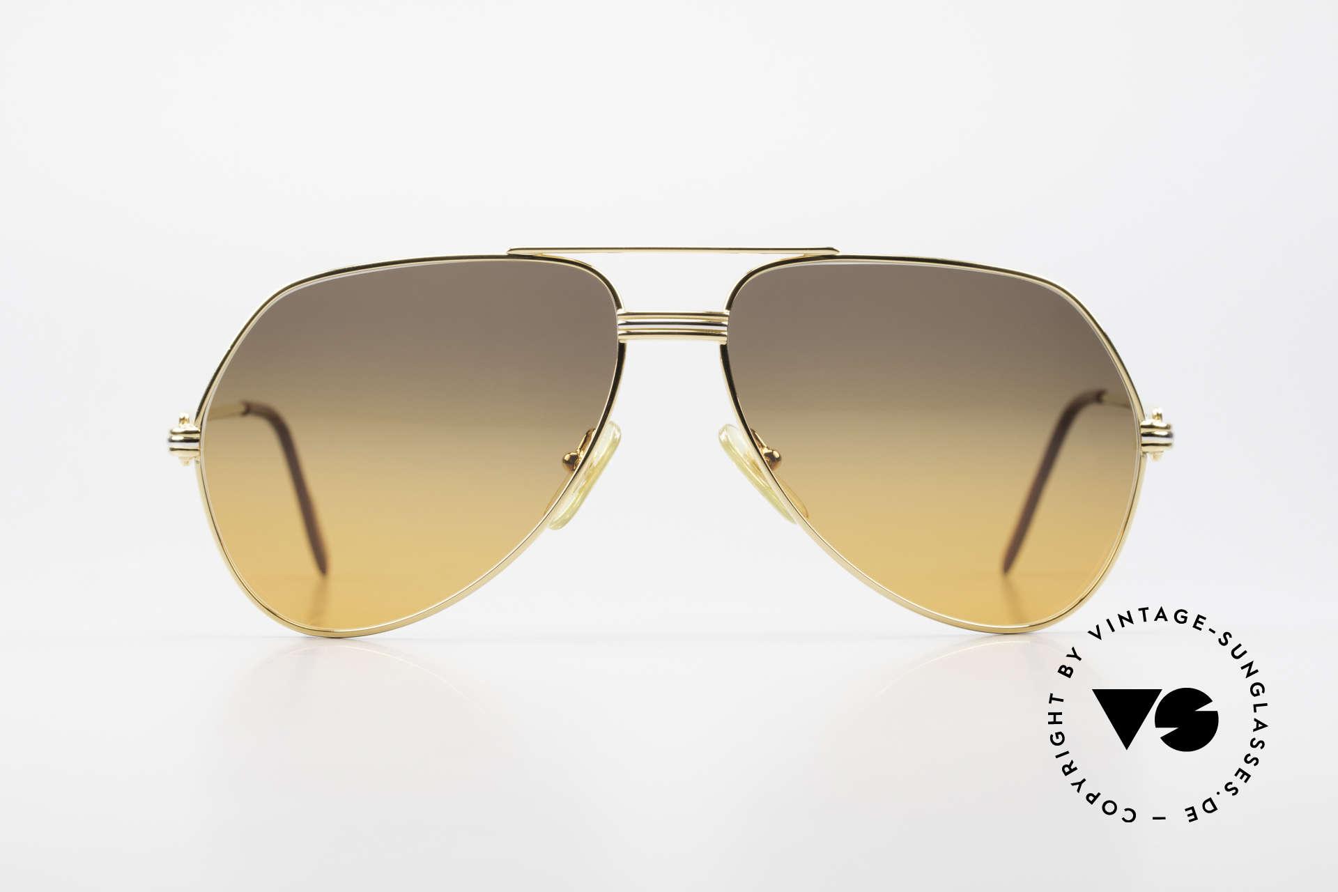 Cartier Vendome LC - M Film-Sonnenbrille Wall Street, wurde 1983 veröffentlicht & dann bis 1997 produziert, Passend für Herren und Damen
