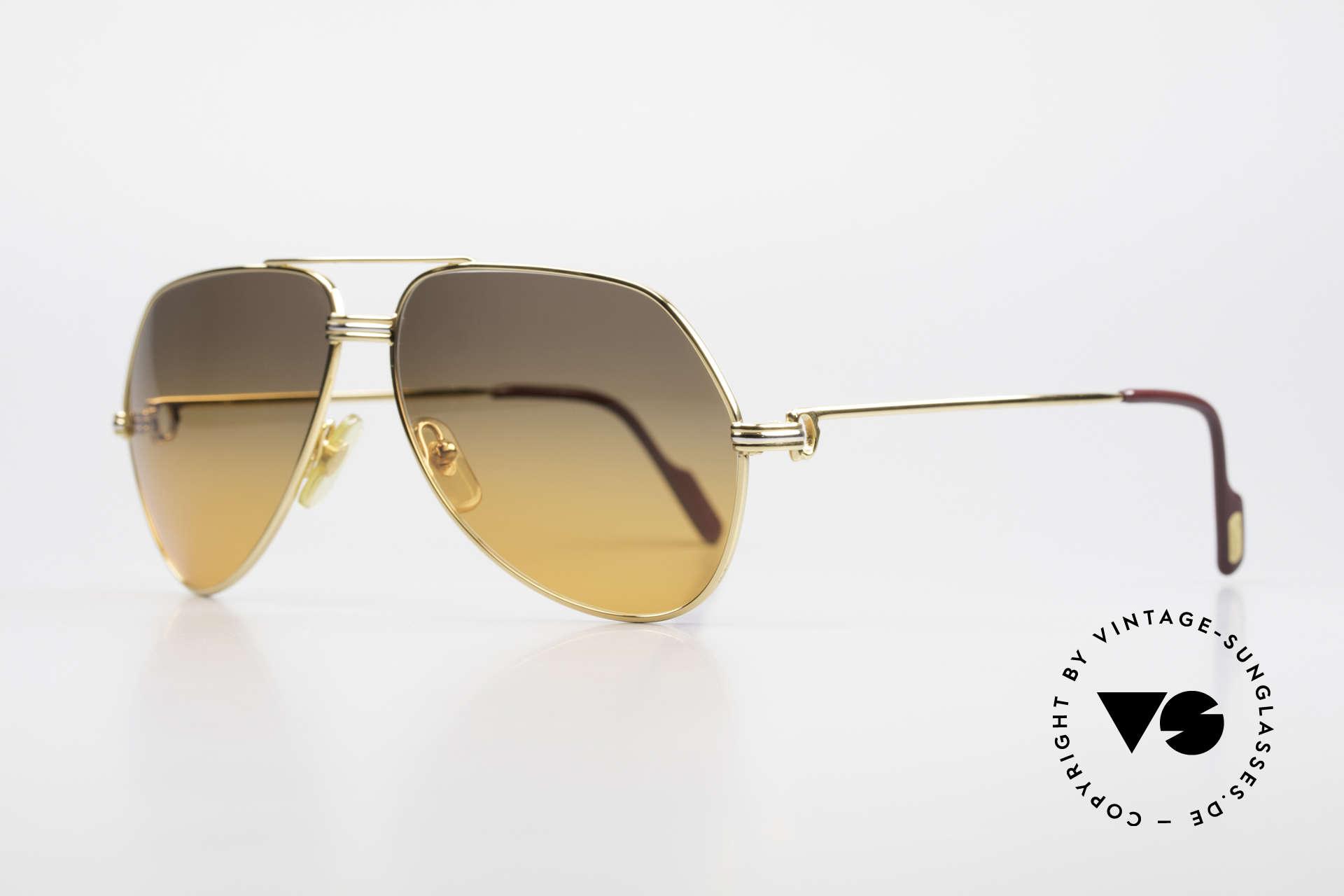 Cartier Vendome LC - M Film-Sonnenbrille Wall Street, dieses Modell mit LC-Dekor in MEDIUM Gr. 59-14, 140, Passend für Herren und Damen