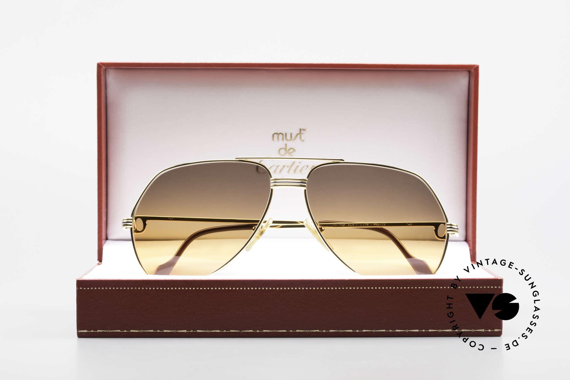 Cartier Vendome LC - M Film-Sonnenbrille Wall Street, KEINE Retrobrille, sondern ein altes vintage ORIGINAL, Passend für Herren und Damen