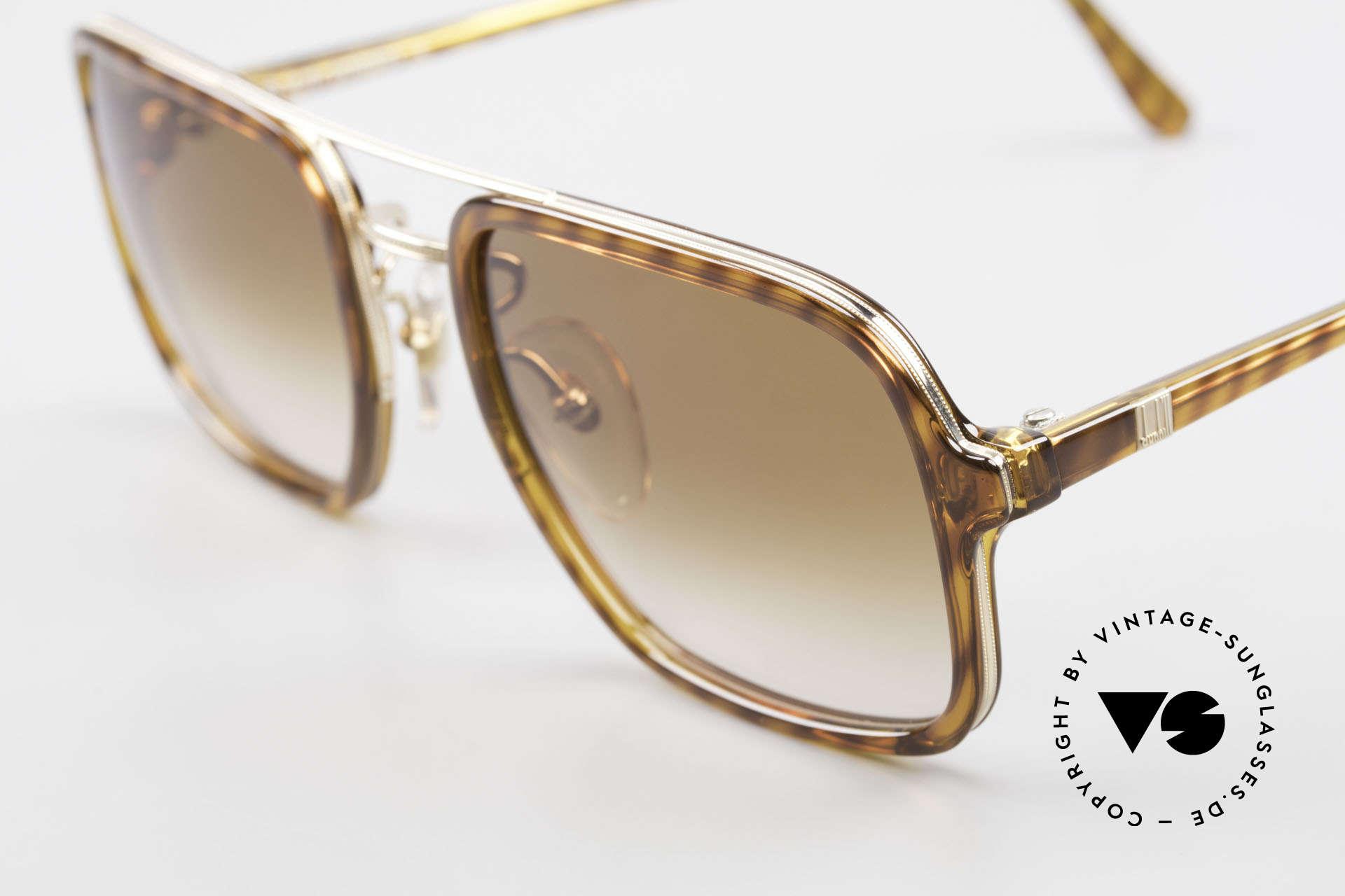 Dunhill 6059 Rare 80er Herren Sonnenbrille, typisch 80er .. mit Doppel-Steg & eleganter Musterung, Passend für Herren