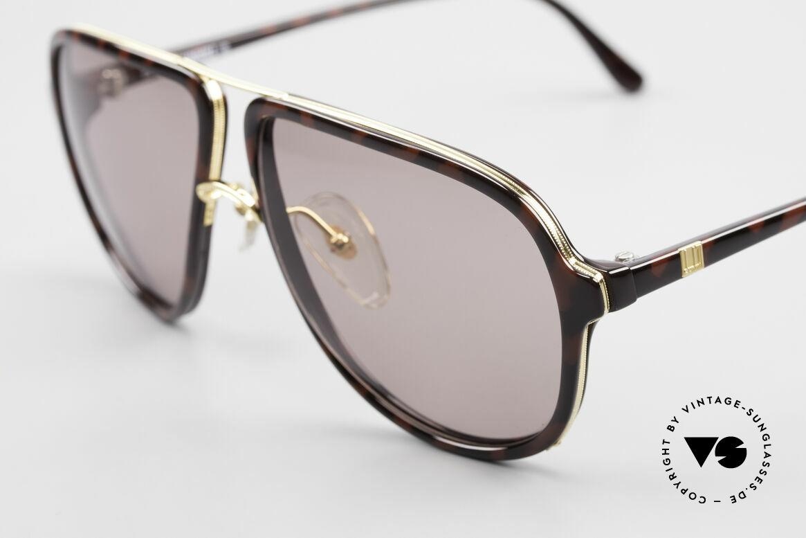 Dunhill 6058 Alte 80er Herren Sonnenbrille, typisch 80er .. mit Doppel-Steg & eleganter Musterung, Passend für Herren