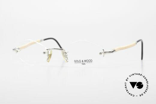 Gold & Wood S02 Randlose Luxusbrille 2000er Details