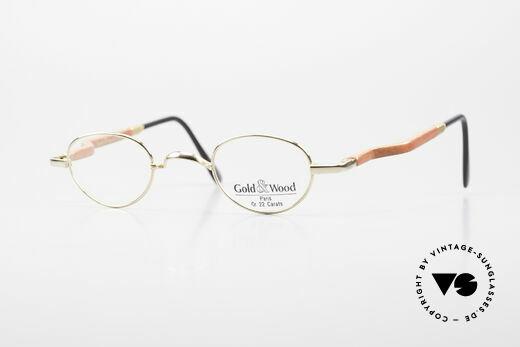 Gold & Wood 326 Holzbrille Oval 22kt Vergoldet Details