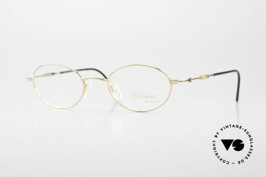 S.T. Dupont D501 Ovale Luxus Brillen Fassung Details