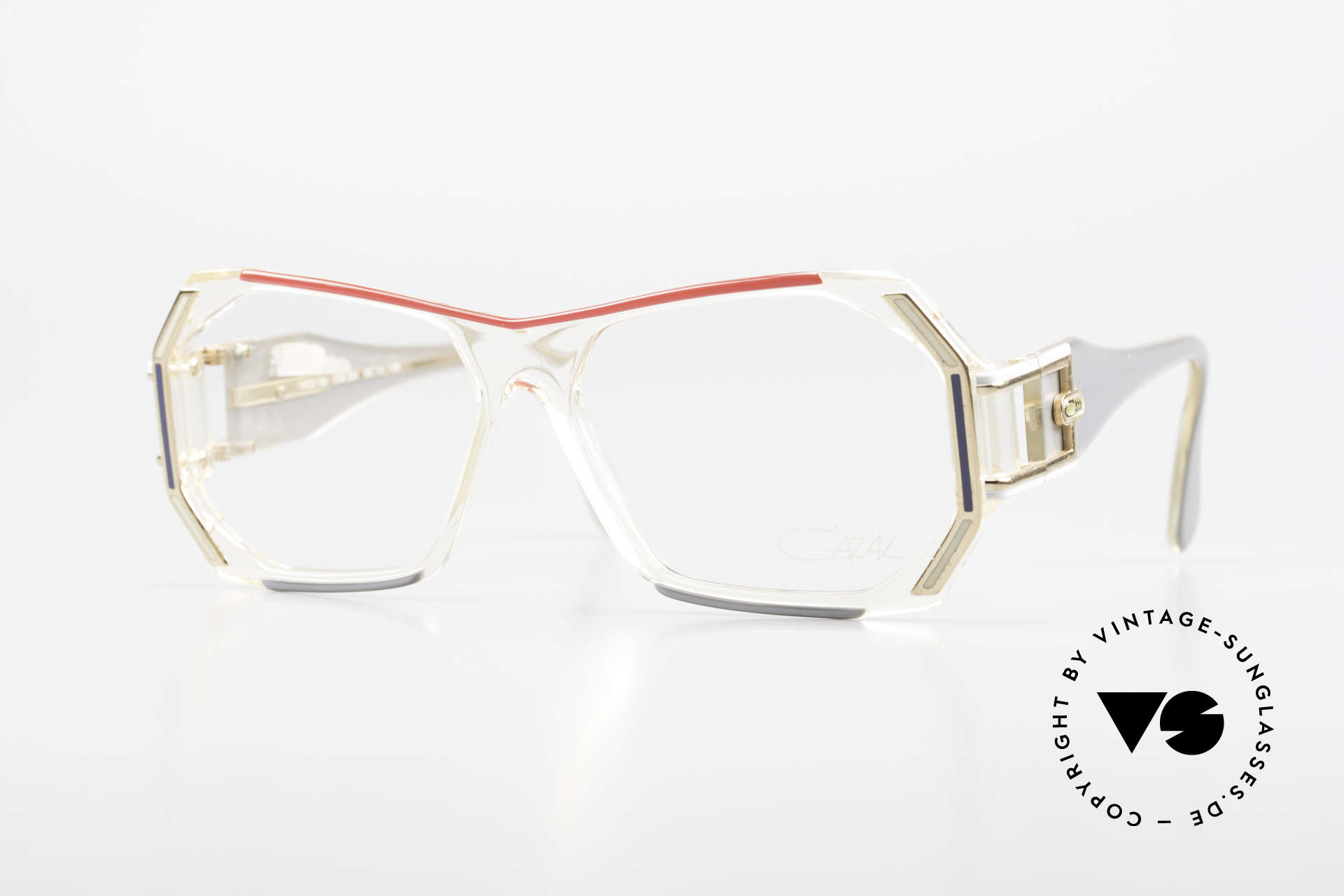 Cazal 182 80er HipHop Old School Brille, vintage 'Old School' Cazal Brillenfassung von 1984, Passend für Herren und Damen