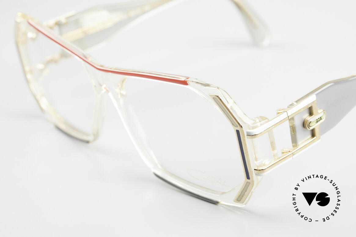 Cazal 182 80er HipHop Old School Brille, mit riesigen Doppelbügeln & großartigem Rahmen, Passend für Herren und Damen