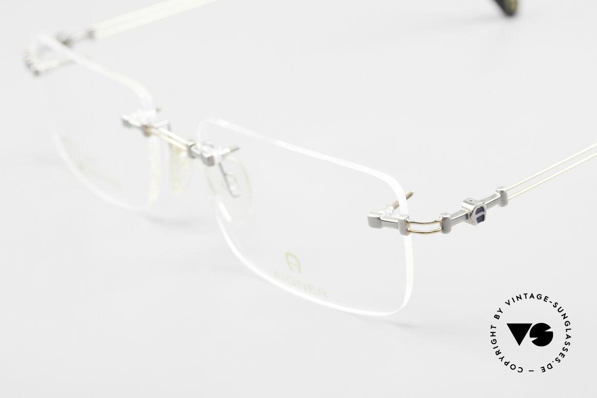 Aigner EA496 Randlose 90er Vintage Brille, unbenutzte Lagerware (wie all unsere randlosen Brillen), Passend für Herren