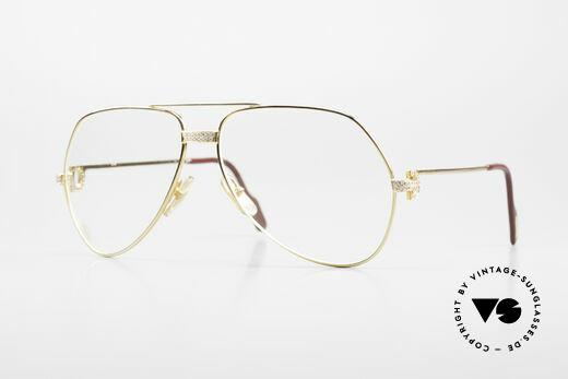 Cartier Grand Pavage Diamanten Brille 18kt Echtgold Details