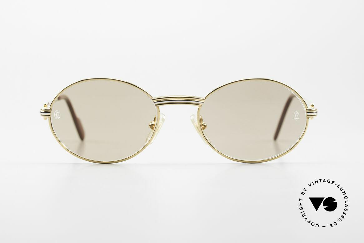 Cartier Saint Honore - S Ovale 90er Luxus Sonnenbrille, kleine ovale vintage Cartier Sonnen-Brille von 1998, Passend für Herren und Damen